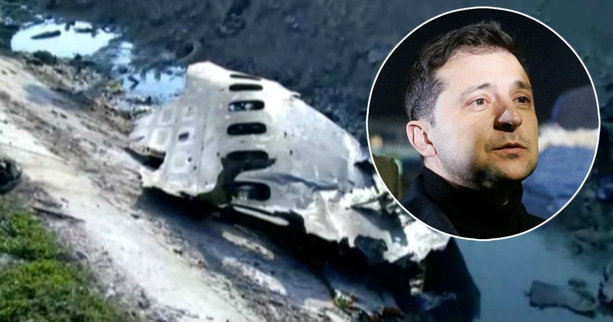 Зеленский отреагировал на падение украинского «Боинга» в Иране