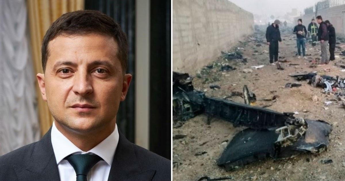 Зеленский отреагировал на версию о попавшей в «Боинг» ракете