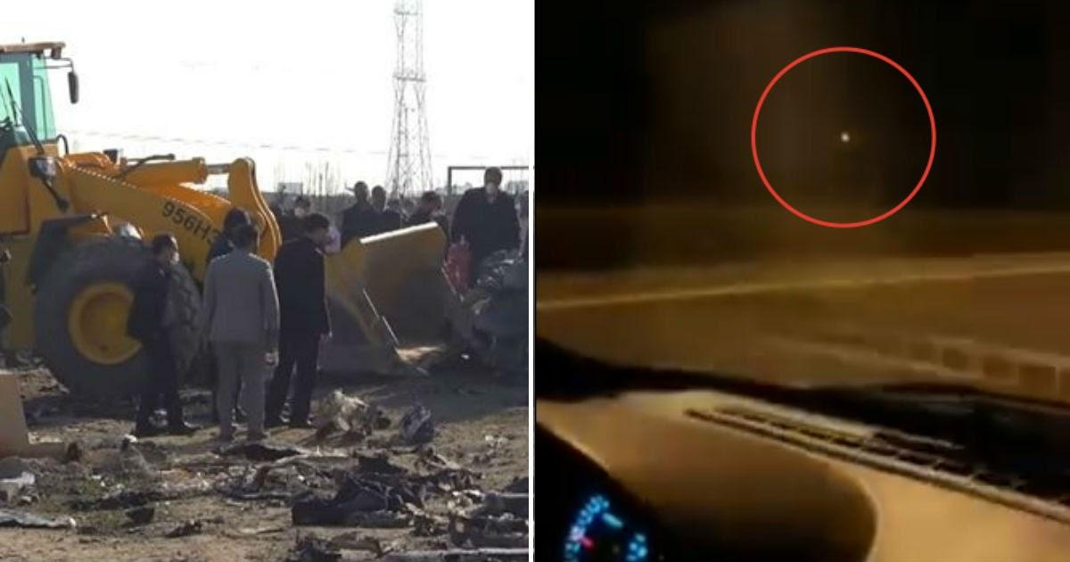 Опубликовано новое видео с падением украинского «Боинга» в Иране