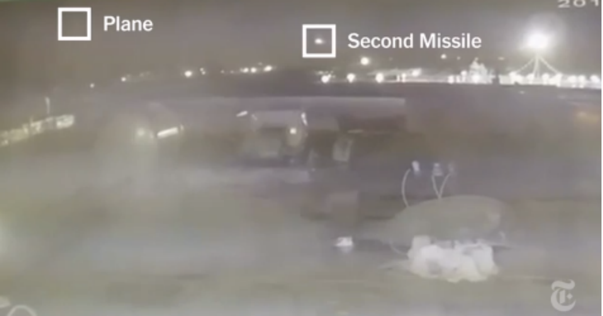 """Фото Новое видео падения украинского """"Боинга"""": на записи видно две ракеты"""