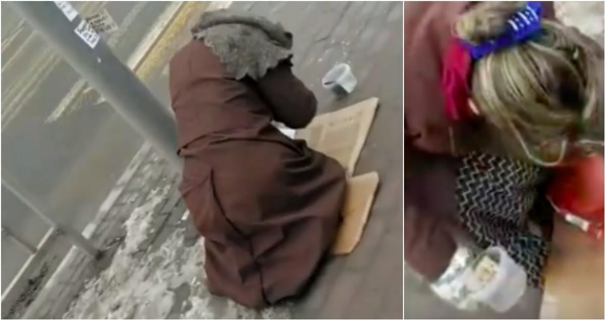 Местные разоблачили просящую милостыню «нищую бабушку» в Липецке