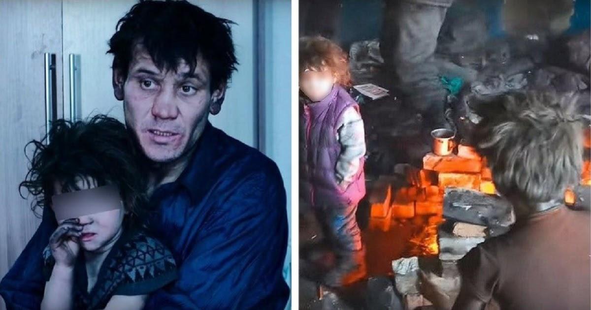 В заброшенном доме в Чите нашли многодетную семью: отца и четырех детей