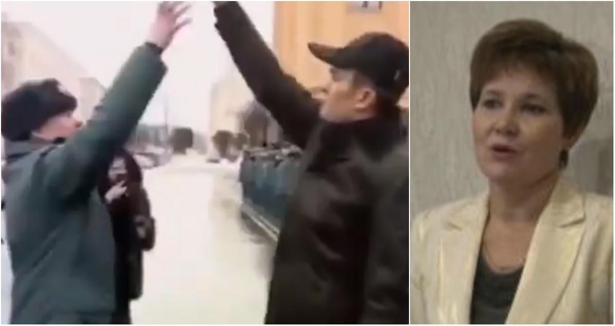 """Жена главы Чувашии прокомментировала """"собачий фокус"""" с пожарным"""