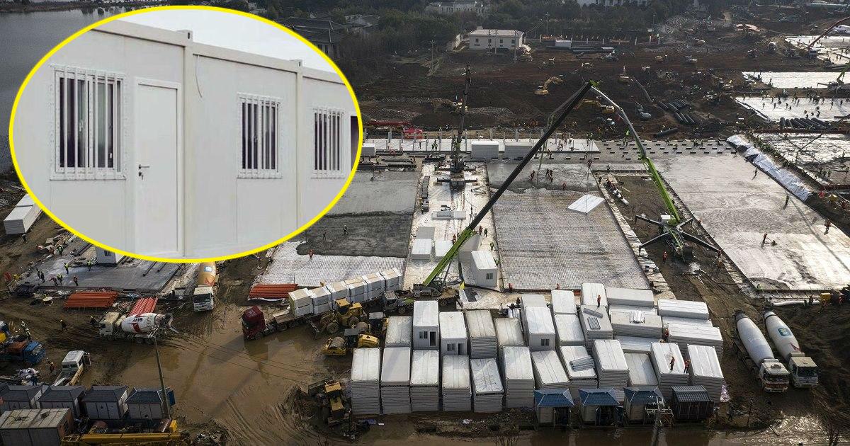 """Фото """"Китайское чудо"""". Фото построенной за неделю больницы в Ухане"""