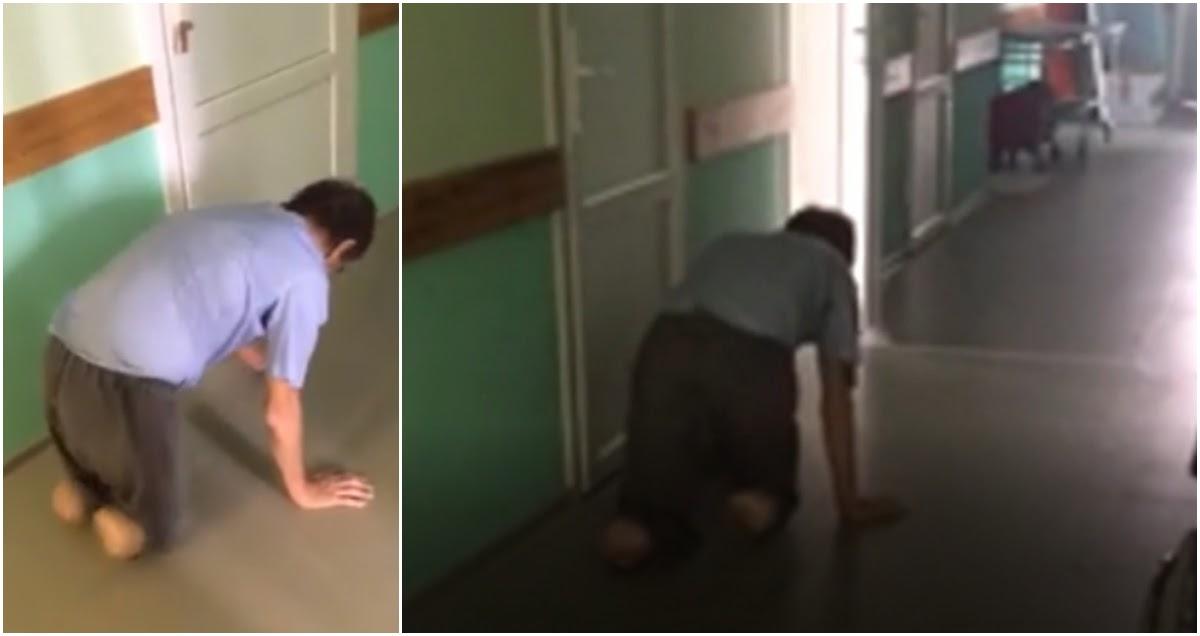 Мужчина без ног ползал в поисках медпомощи в районной больнице