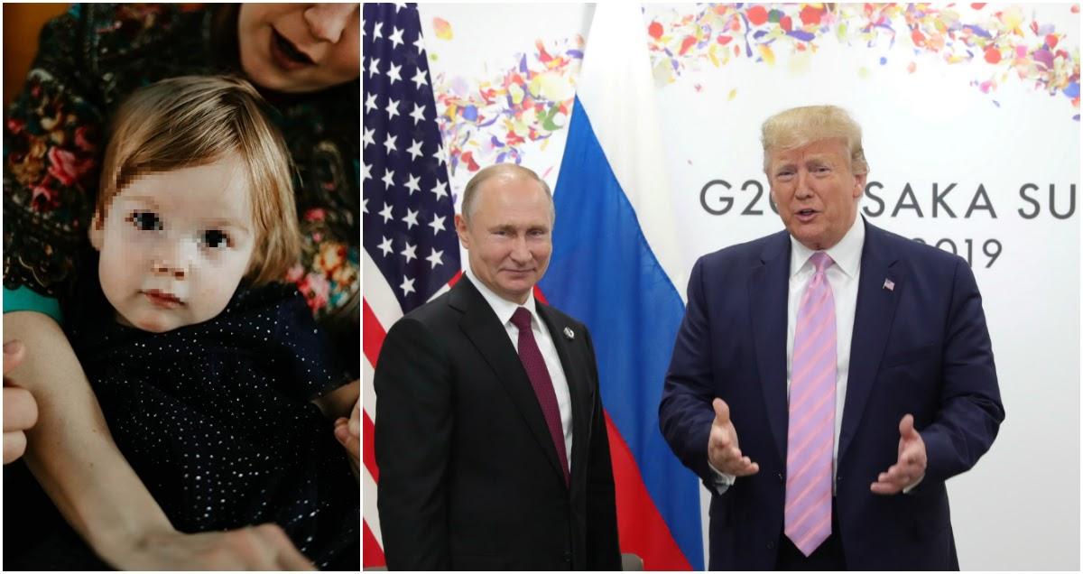 Семья с Урала написала письмо Трампу с просьбой спасти их годовалую дочь