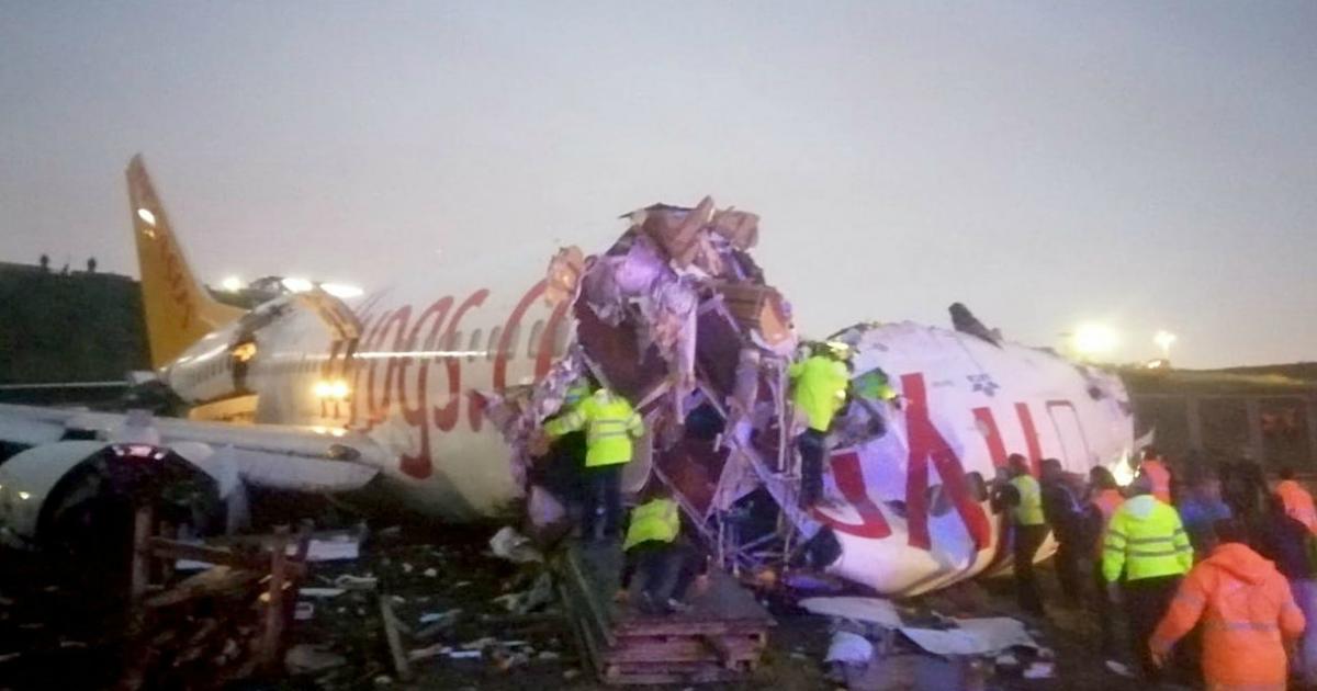 Власти Стамбула рассказали, почему разбился самолет с 171 пассажиром
