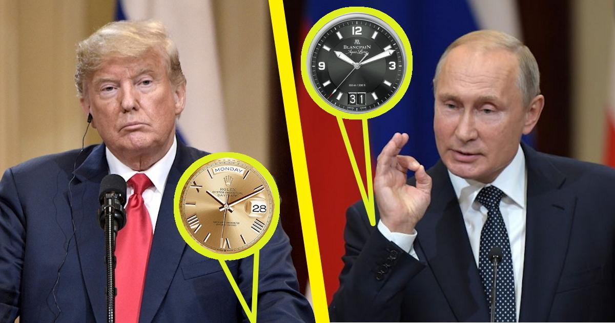 Битва президентов: сколько стоят часы Путина и сколько - часы Трампа