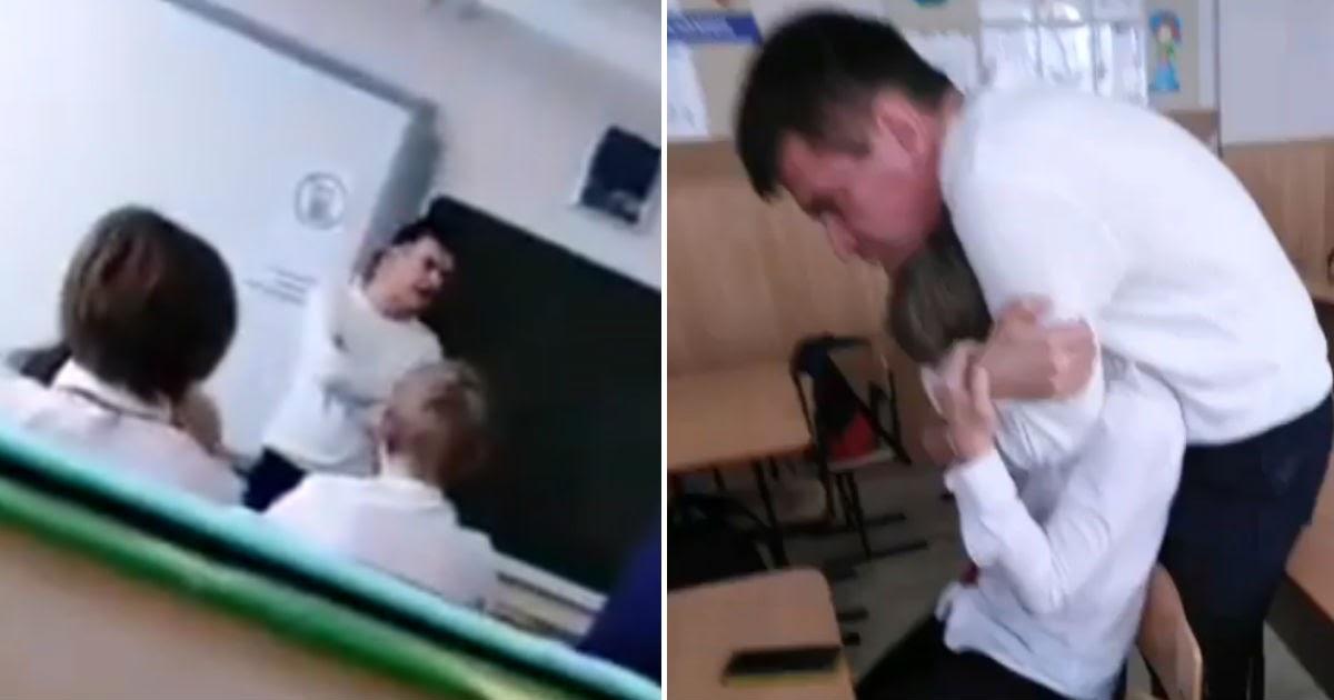 Сочинские школьники сняли, как учитель cхвaтил их одноклассника