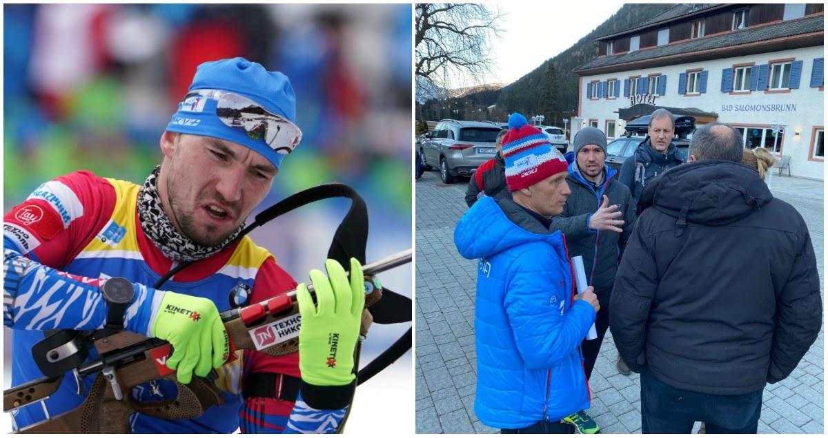 Фото Полиция Италии пришла в номер к выигравшему золото биатлонисту Логинову