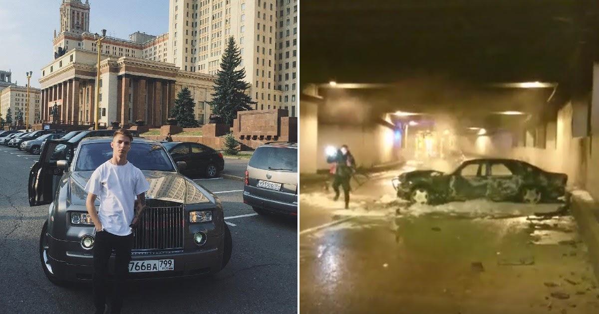 23-летний лихач на «Мерседесе» устроил огненное ДТП в Москве