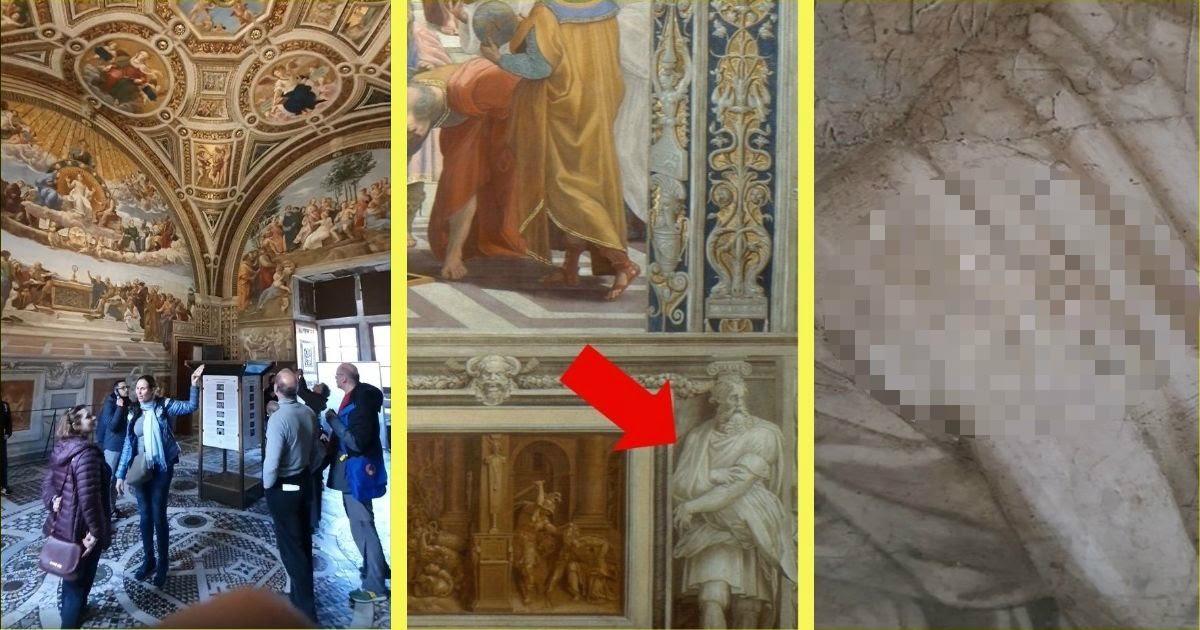 """Фото """"Лена Тамара Винница"""". Украинки испортили шедевр Рафаэля в Ватикане"""