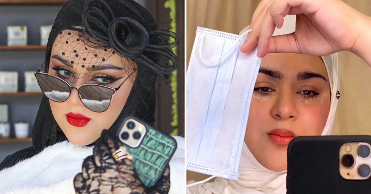 Девушка придумала макияж под защитную маску и подверглась критике