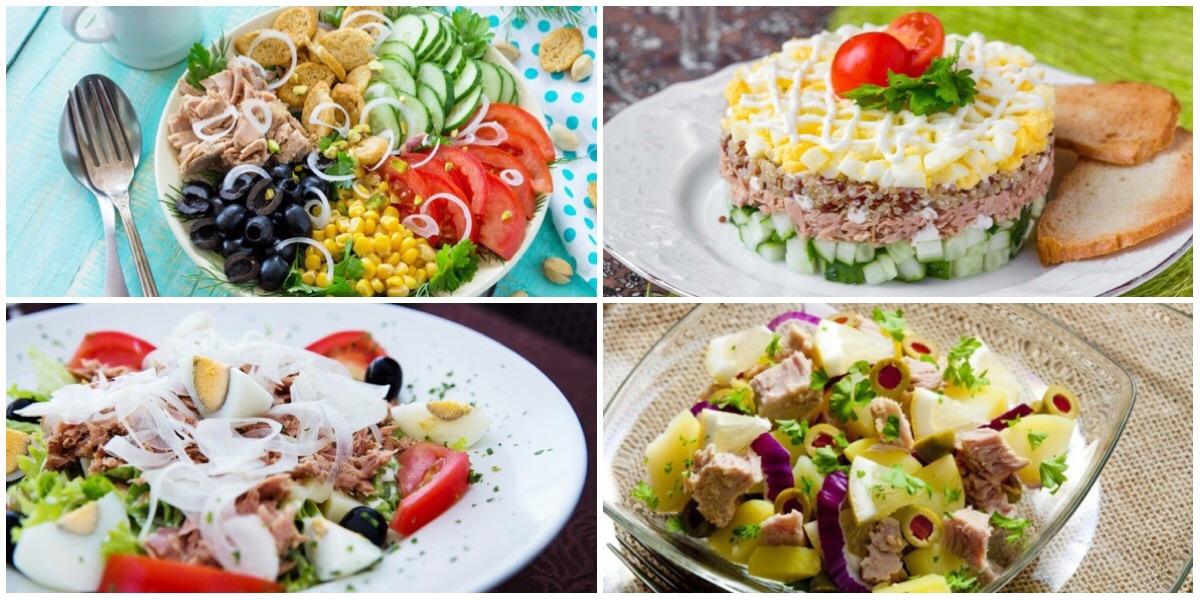 Фото Подборка вкусных салатов с тунцом