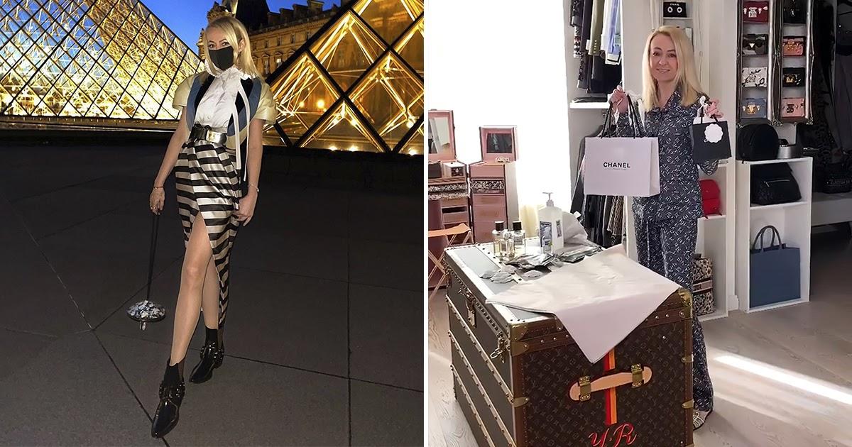 Рудковскую раскритиковали за маски от коронавируса с цветами Chanel