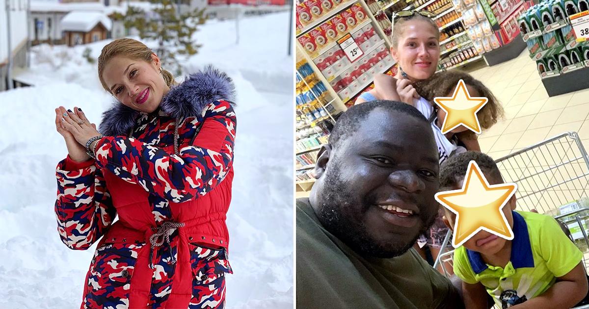 Русская красавица вышла замуж за африканца. Как выглядят их дети?
