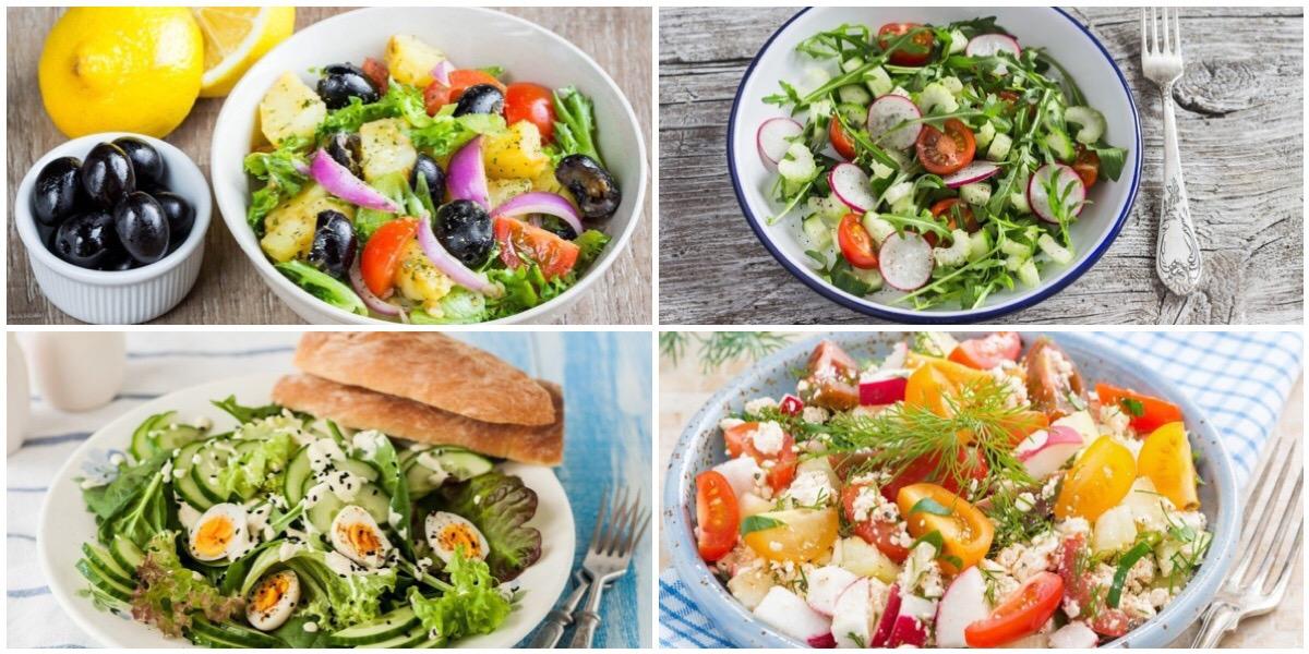 Подборка весенних салатов