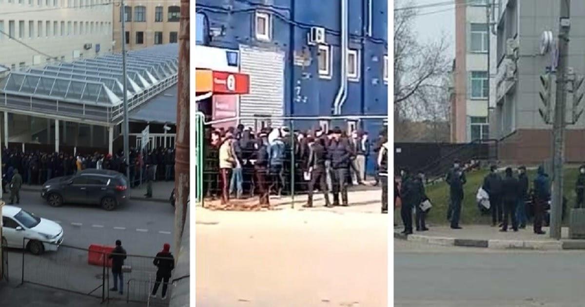 Какой карантин? Россияне жалуются на толпы мигрантов у дверей УФМС