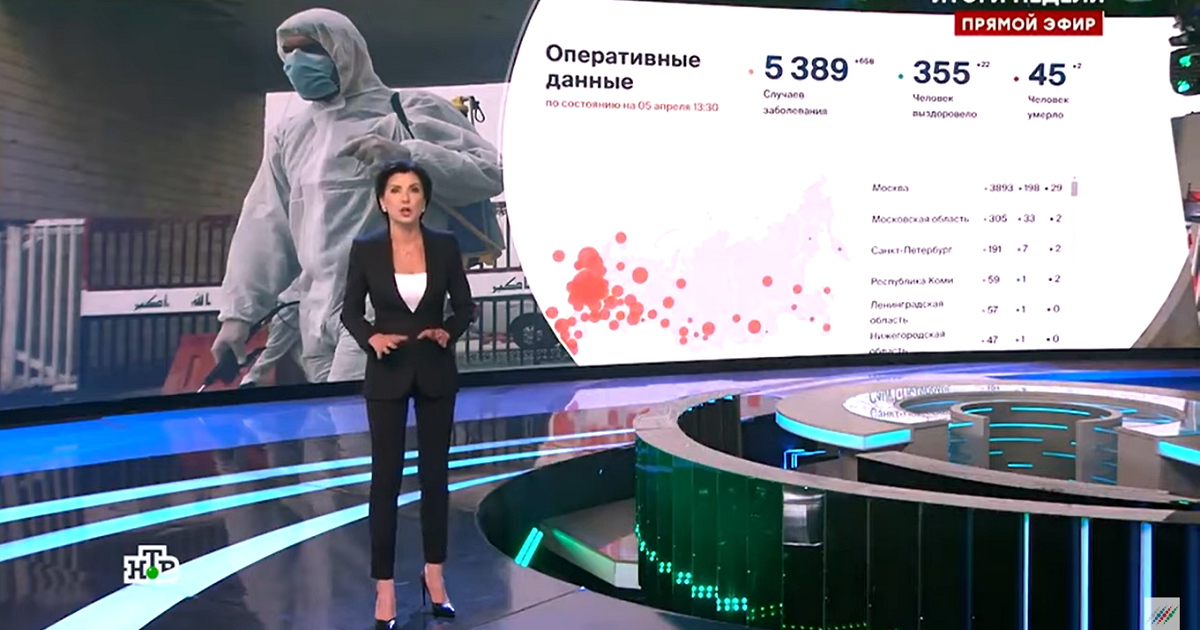Оговорка на ТВ: Зейналова заявила о «40 тыс. россиян», погибших от вируса