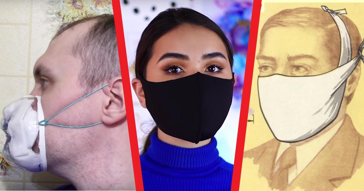 Как сделать или сшить медицинскую маску своими руками: инструкции и видео