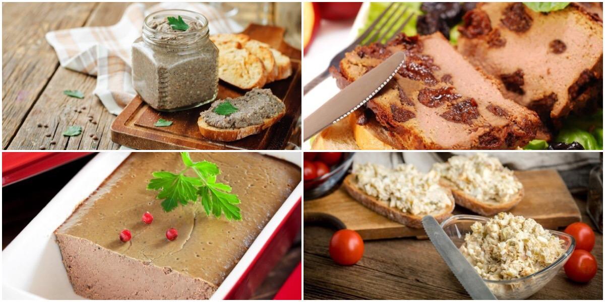 Подборка разнообразных рецептов для любителей паштета