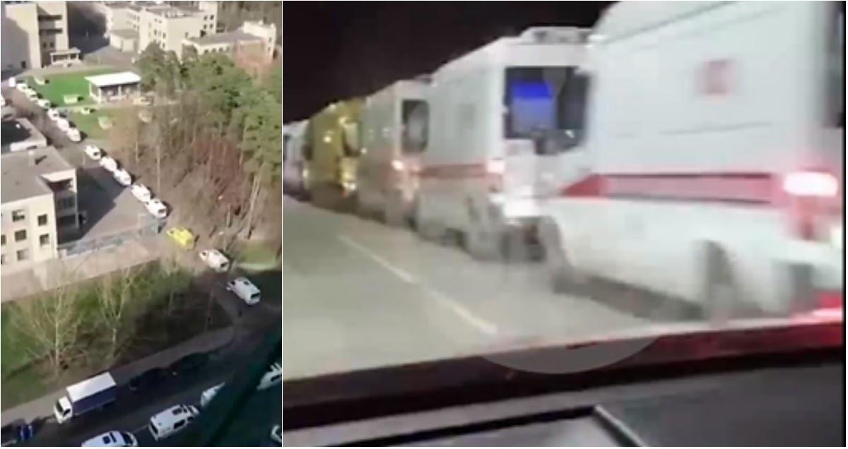 СМИ сообщили о пробках из карет скорой в Москве