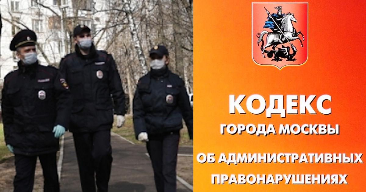 Штрафы в Москве за нарушение самоизоляции: как их выписывают полиция и ГИБДД