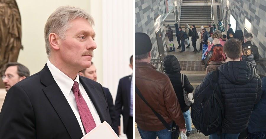 Песков связал столпотворение в метро с низкой дисциплиной москвичей