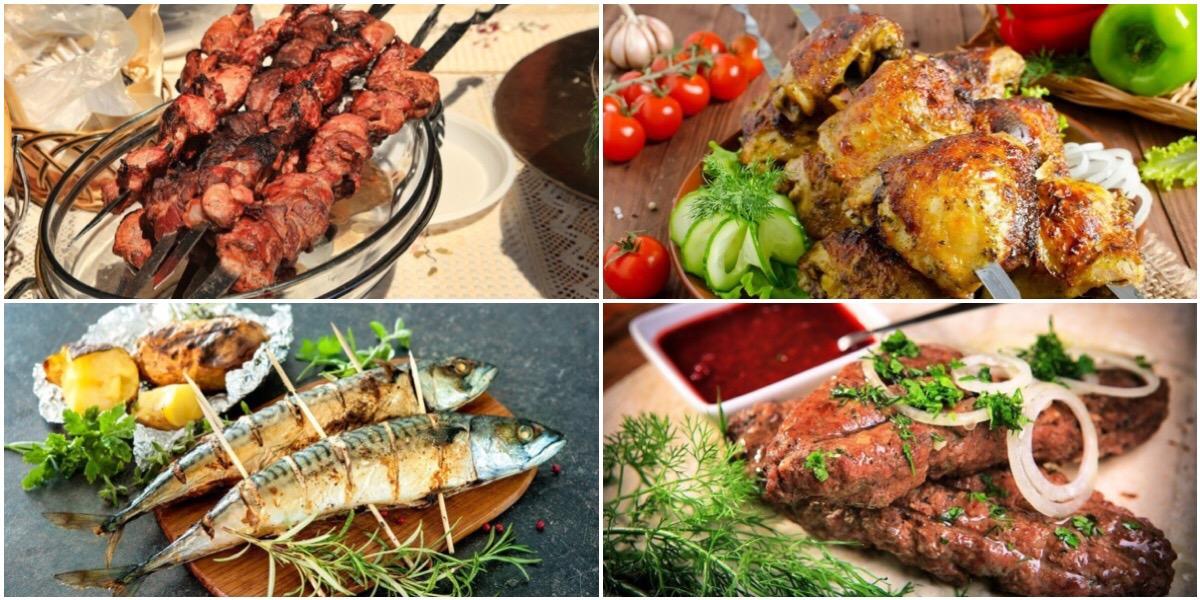 Подборка вкусных блюд на мангале