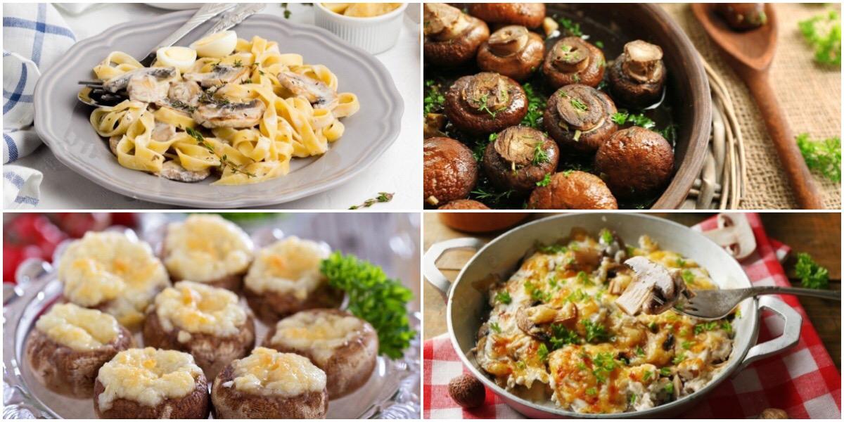 Подборка ароматных блюд с грибами