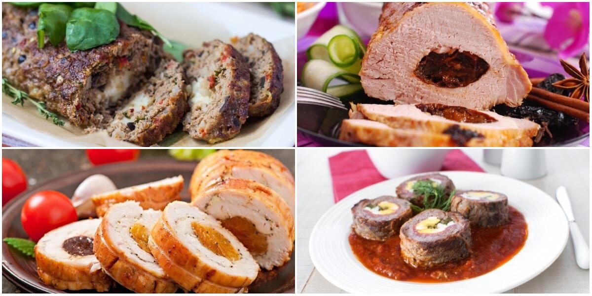 ТОП-7 вкусных идей для любителей мясного рулета