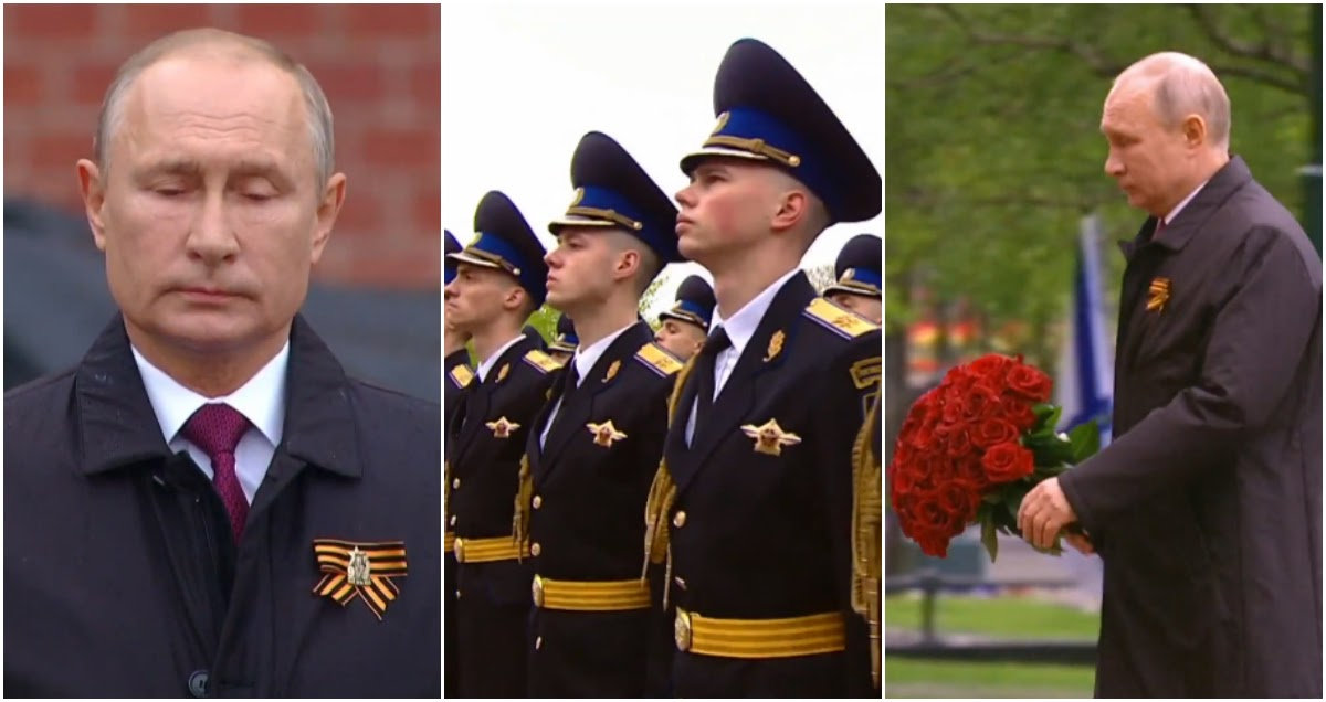 Путин вышел из самоизоляции и обратился к нации около Кремля