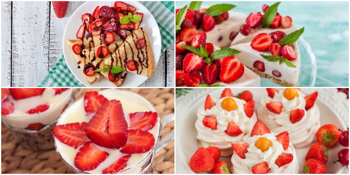 Фото Подборка вкусных клубничных десертов