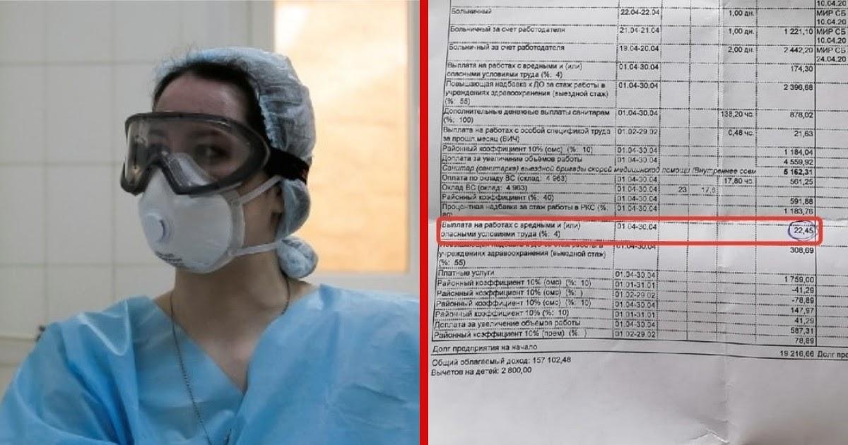 Фото 22 рубля надбавки: мурманские медики показали доплаты за работу с COVID