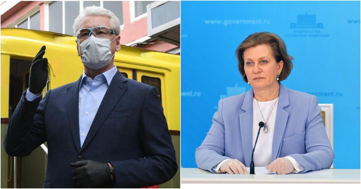 Фото Собянин против Поповой. Как статистика по COVID-19 столкнула чиновников