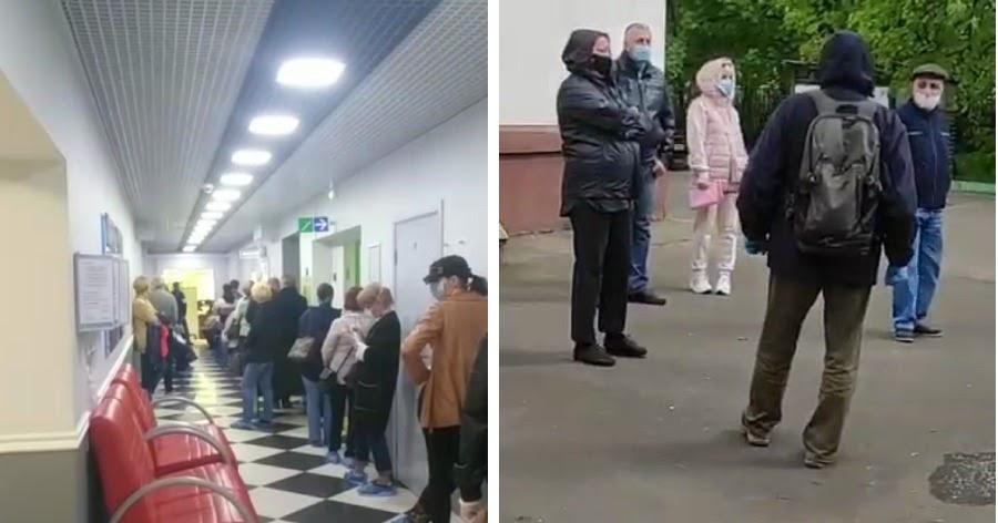 Массовое тестирование на COVID-19 в Москве обернулось очередями. Власти оправдались