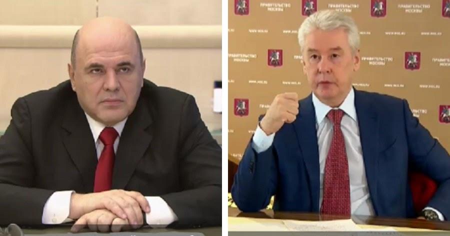 """Мишустин объявил о """"стабилизации"""" эпидемии. Собянин: радоваться рано"""