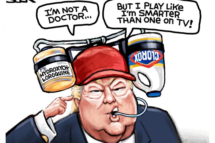 Photo of 7 brutally funny cartoons about Trump's hydroxychloroquine regimen