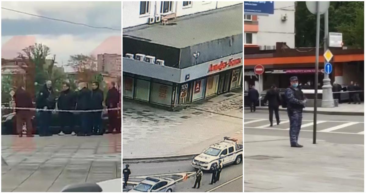"""В центре Москвы захватили заложников в здании """"Альфа-банка"""""""