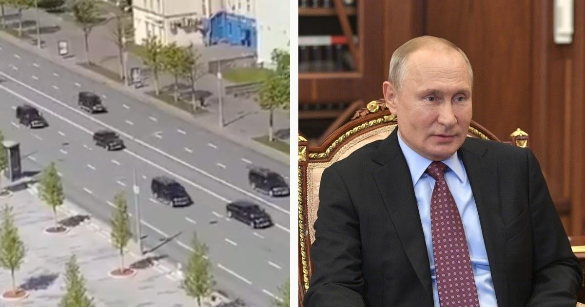 Вышел из изоляции. Путин с кортежем вернулся в Кремль