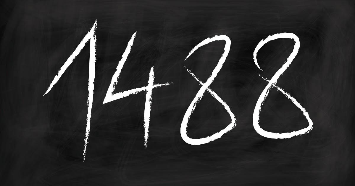 Фото Что значит 1488 или 14/88. Почему 1488 является экстремистским символом