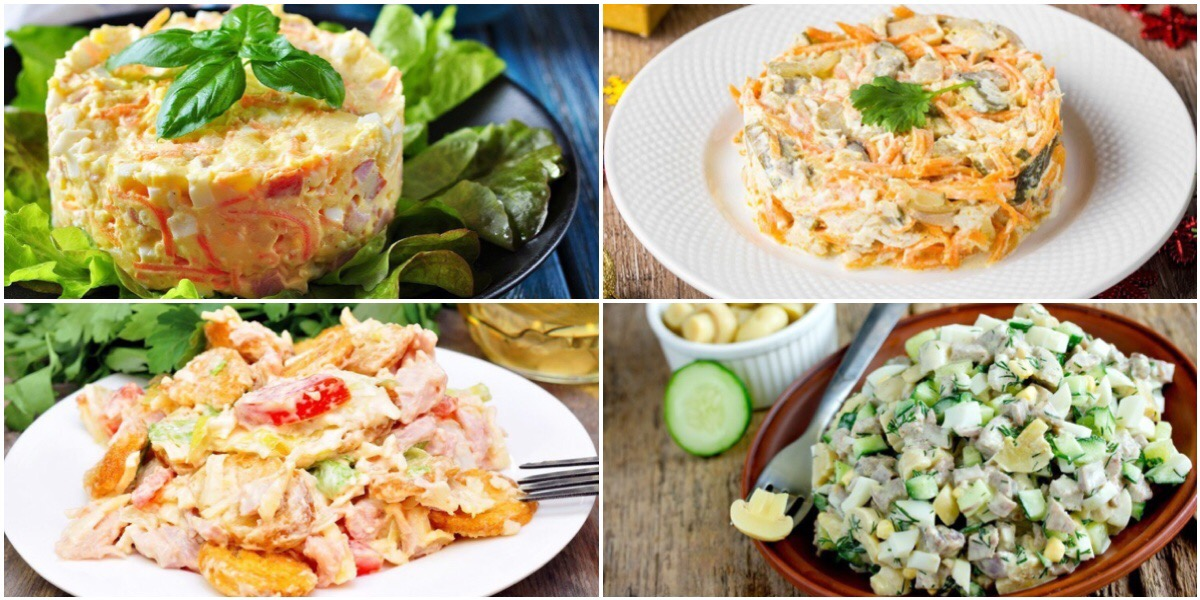 Фото Подборка вкусных и разнообразных салатов