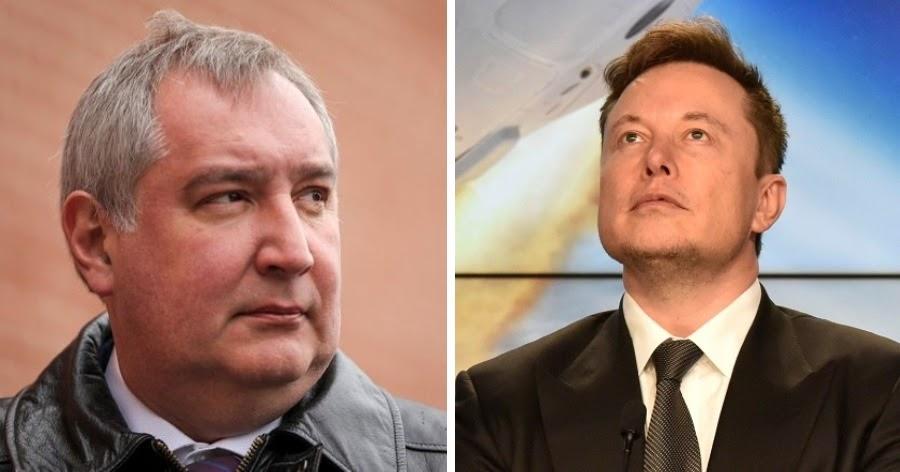 """Фото """"Ха-ха"""". Маск по-русски ответил Рогозину на поздравления"""