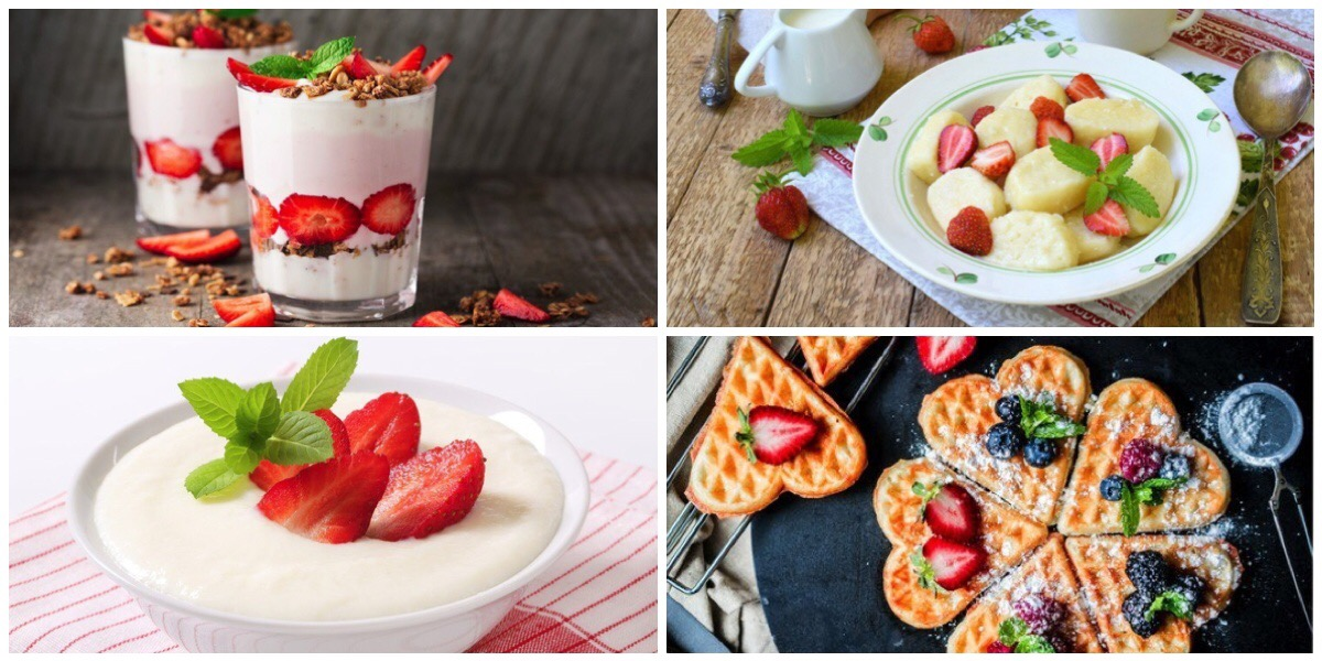 Подборка вкусных завтраков с ягодами