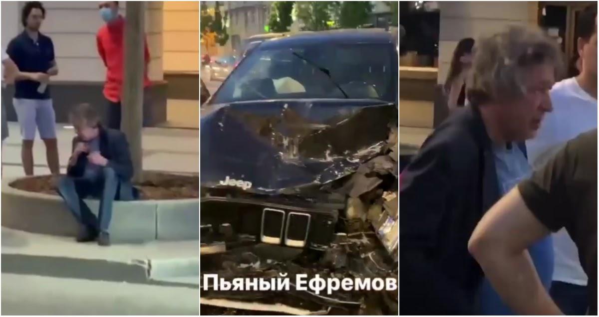 Ефремов устроил серьезное ДТП в Москве, есть тяжело пострадавшие
