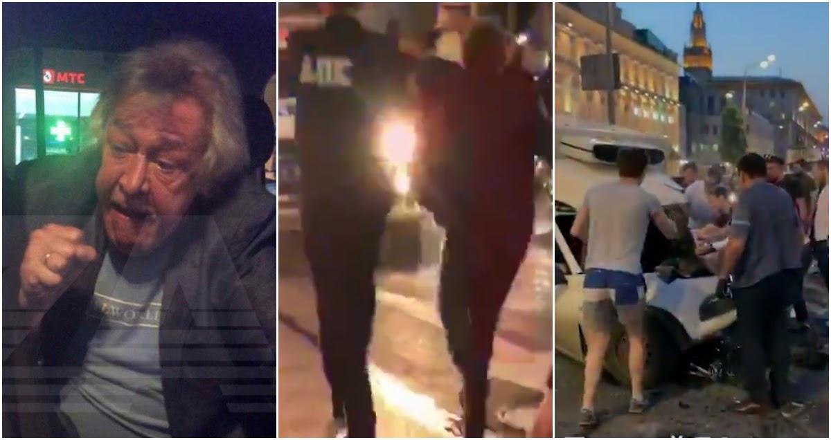 Ефремов задержан на месте пьяного ДТП, ему грозит уголовное дело