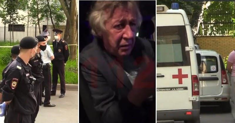 Полиция, скорая и оцепление: Ефремов засел в квартире после ДТП