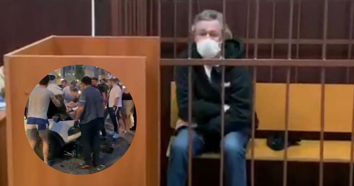 Ефремов разрыдался в зале суда, куда его доставила полиция (ВИДЕО)
