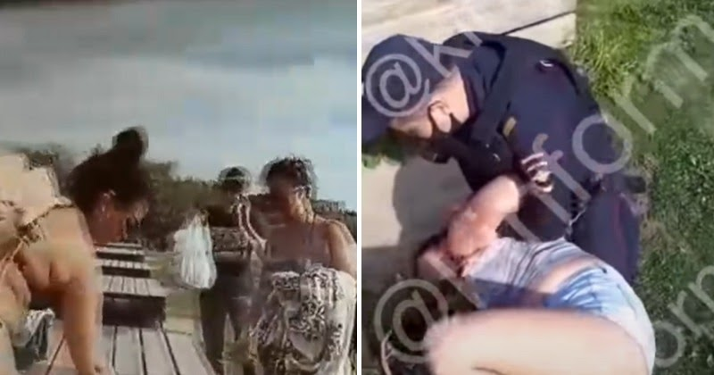 Полиция Сургута жестко задержала девушек, загоравших в парке