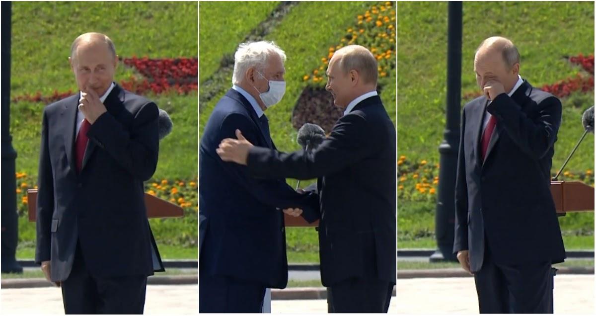 Путин показался на улице ради празднования Дня России (ВИДЕО)